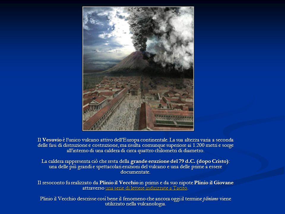 Il Vesuvio è l'unico vulcano attivo dell'Europa continentale
