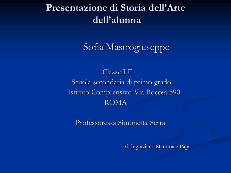 Presentazione di Storia dell'Arte dell'alunna