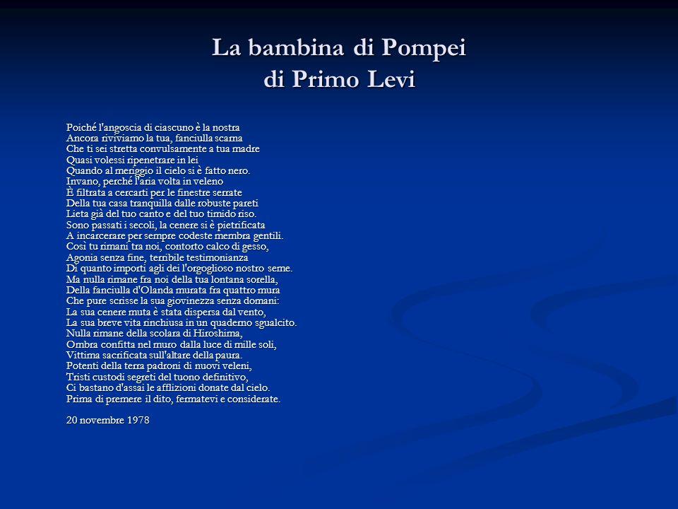 La bambina di Pompei di Primo Levi