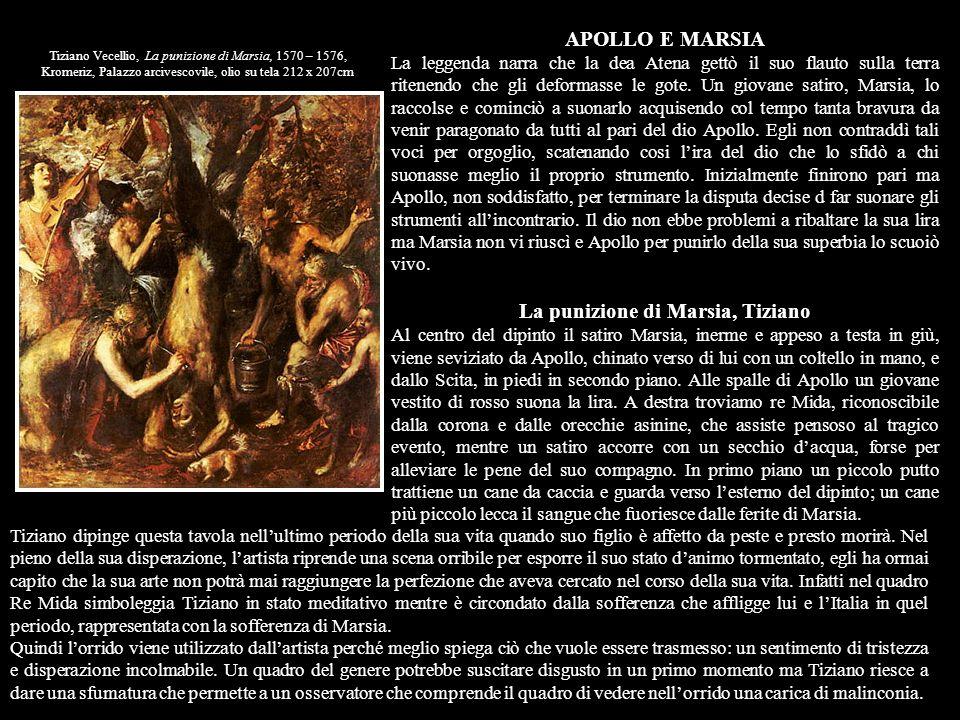 La punizione di Marsia, Tiziano