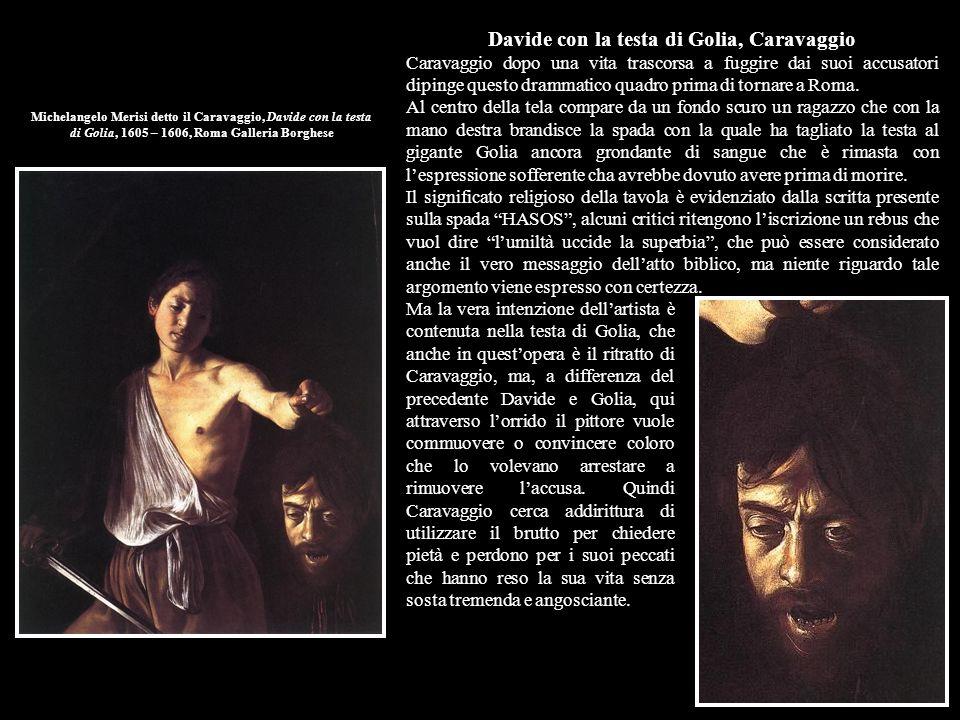 Davide con la testa di Golia, Caravaggio