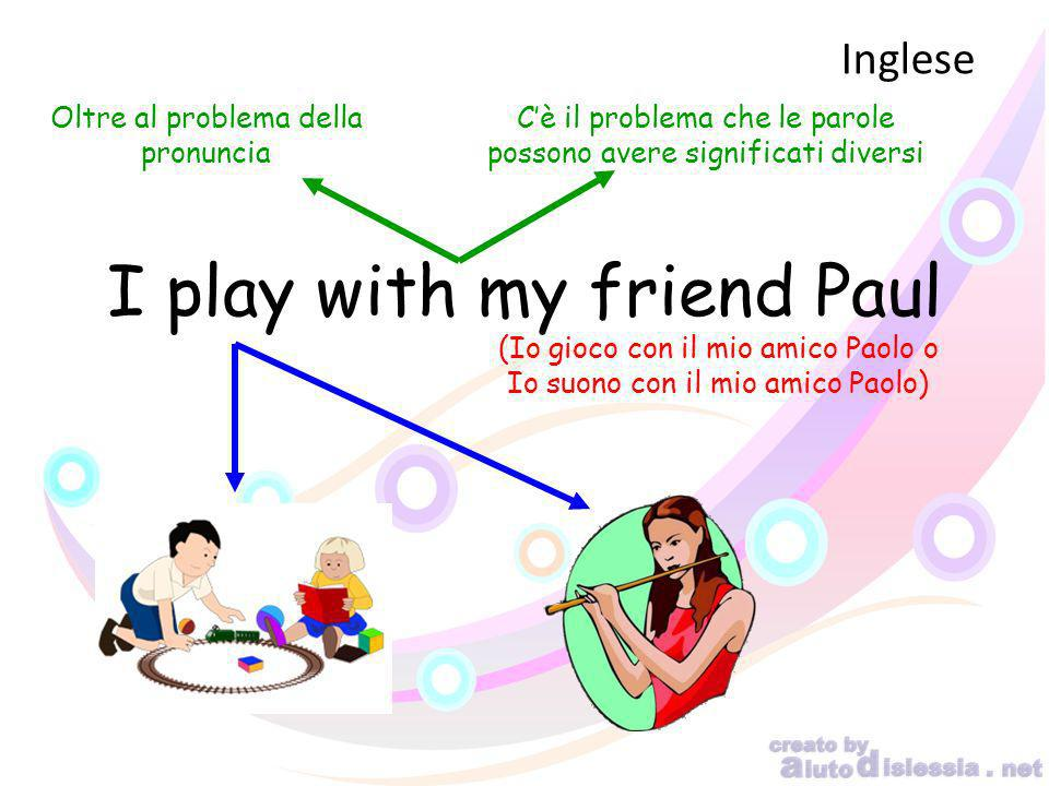 I play with my friend Paul