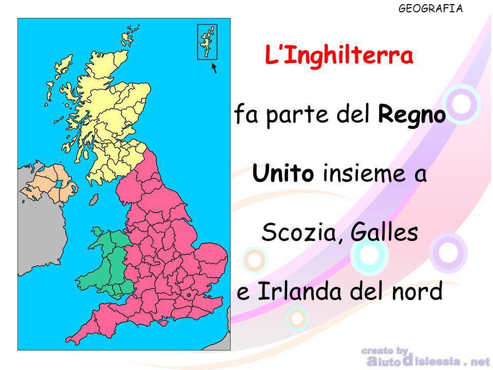 L'Inghilterra fa parte del Regno Unito insieme a Scozia, Galles