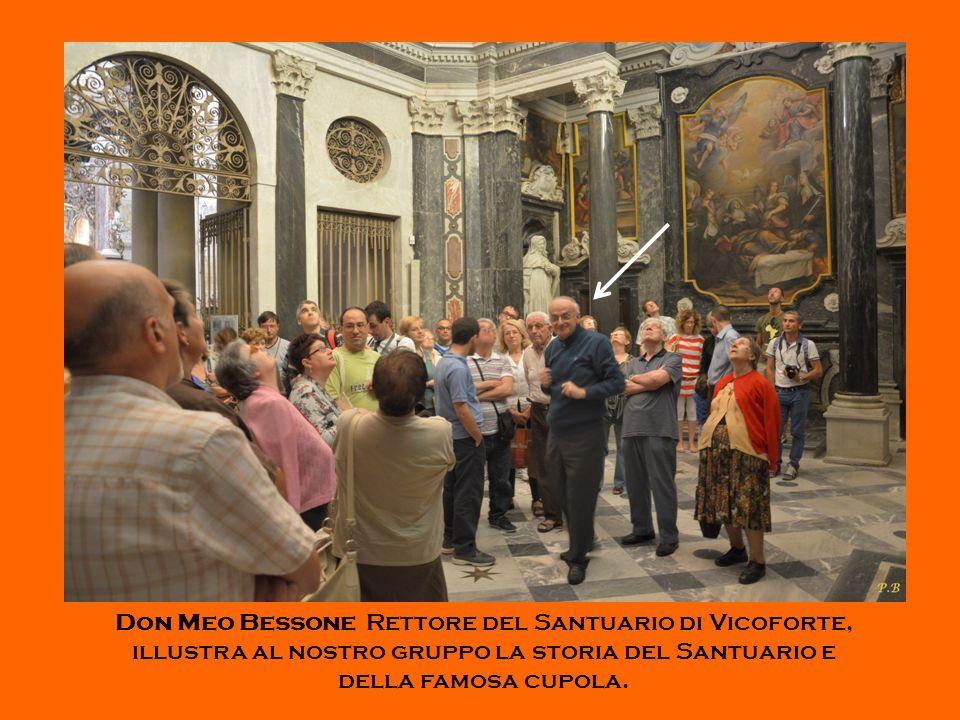 Don Meo Bessone Rettore del Santuario di Vicoforte, illustra al nostro gruppo la storia del Santuario e