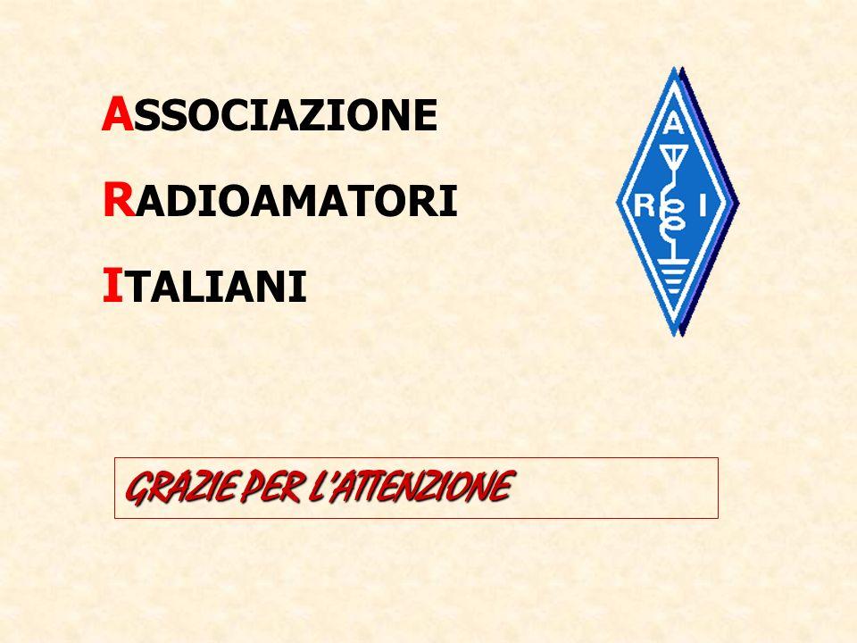 ASSOCIAZIONE RADIOAMATORI ITALIANI GRAZIE PER L'ATTENZIONE