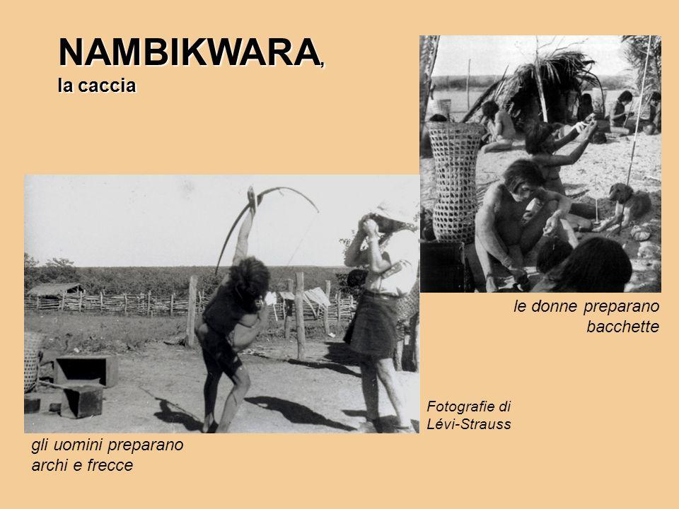 NAMBIKWARA, la caccia le donne preparano bacchette