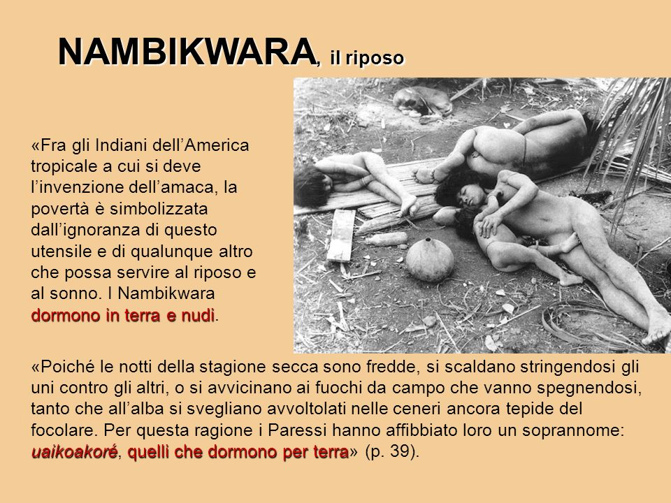 NAMBIKWARA, il riposo