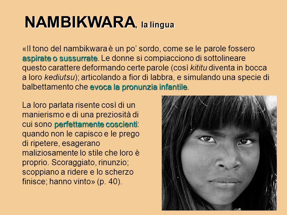 NAMBIKWARA, la lingua