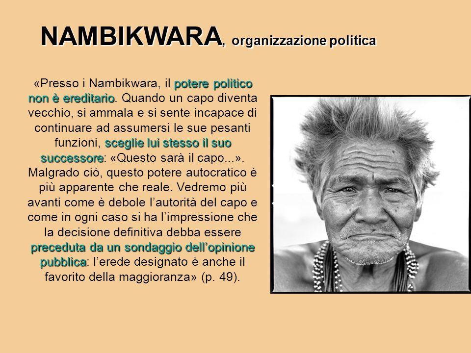 NAMBIKWARA, organizzazione politica