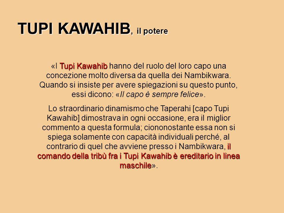 TUPI KAWAHIB, il potere