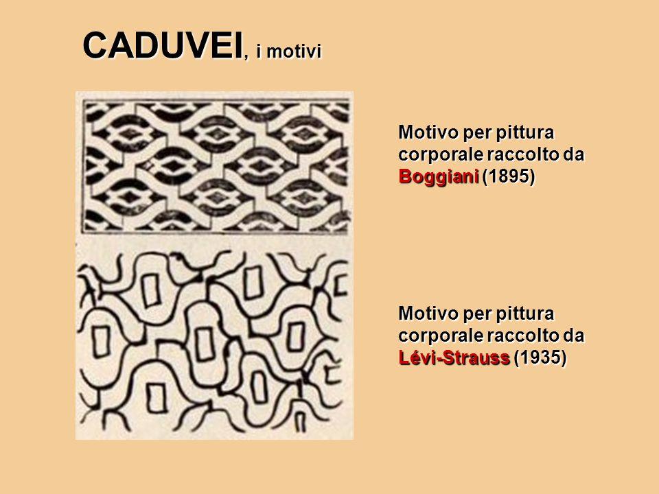 CADUVEI, i motivi Motivo per pittura corporale raccolto da Boggiani (1895) Motivo per pittura corporale raccolto da Lévi-Strauss (1935)