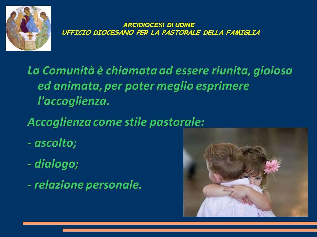 ARCIDIOCESI DI UDINE UFFICIO DIOCESANO PER LA PASTORALE DELLA FAMIGLIA