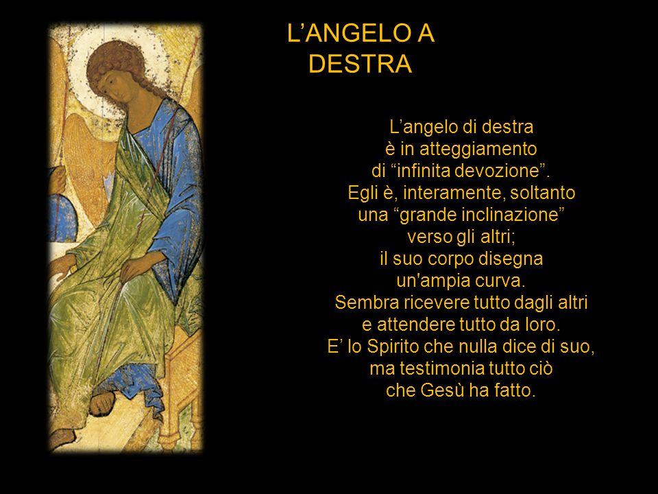 L'ANGELO A DESTRA L'angelo di destra è in atteggiamento