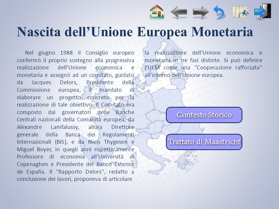 Nascita dell'Unione Europea Monetaria