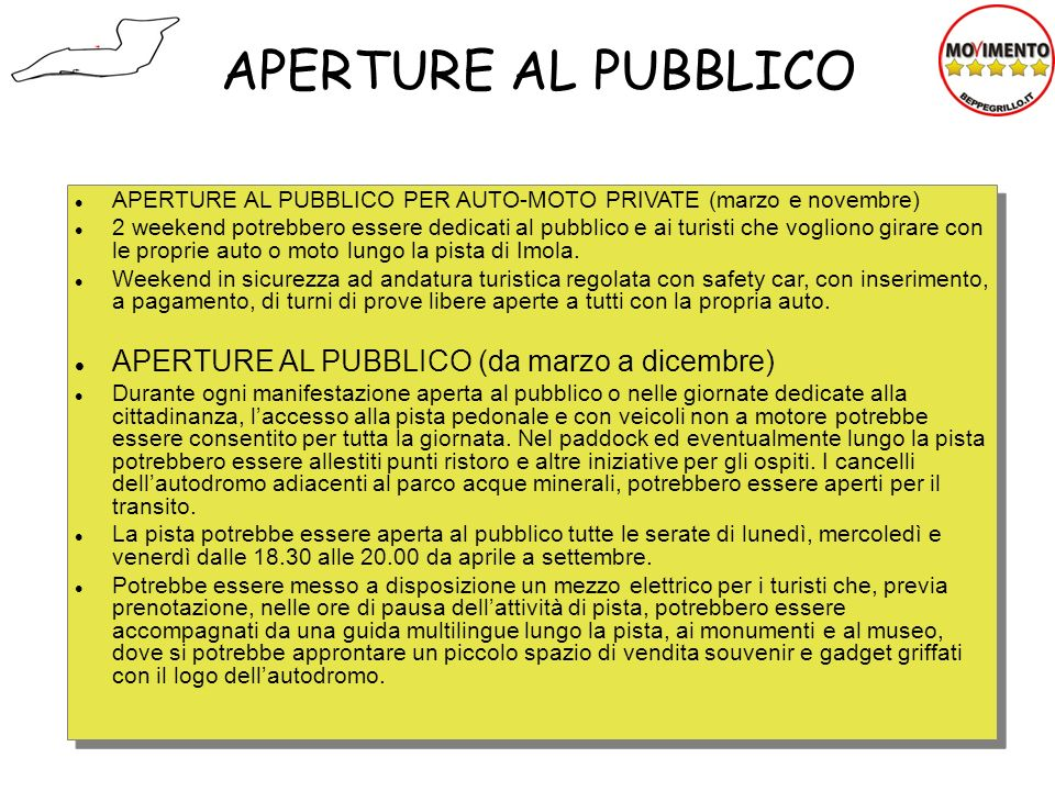 APERTURE AL PUBBLICO APERTURE AL PUBBLICO (da marzo a dicembre)