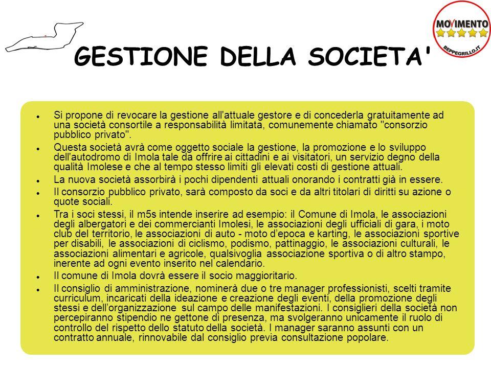 GESTIONE DELLA SOCIETA