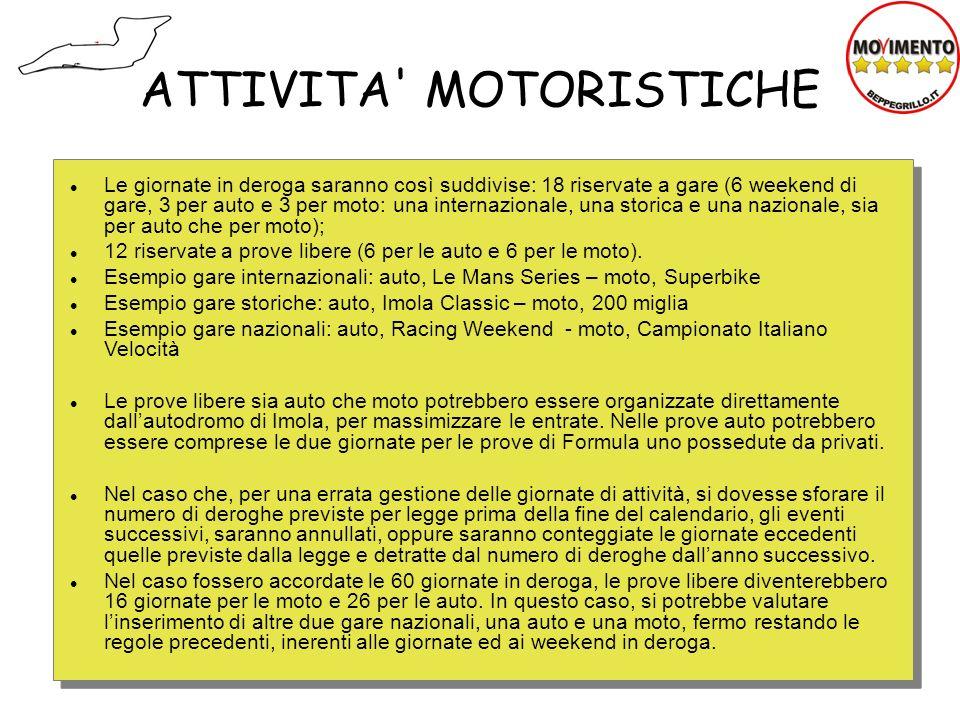 ATTIVITA MOTORISTICHE
