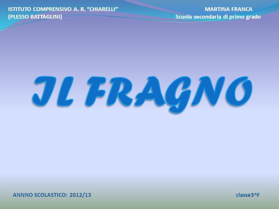 IL FRAGNO ISTITUTO COMPRENSIVO A. R. CHIARELLI MARTINA FRANCA