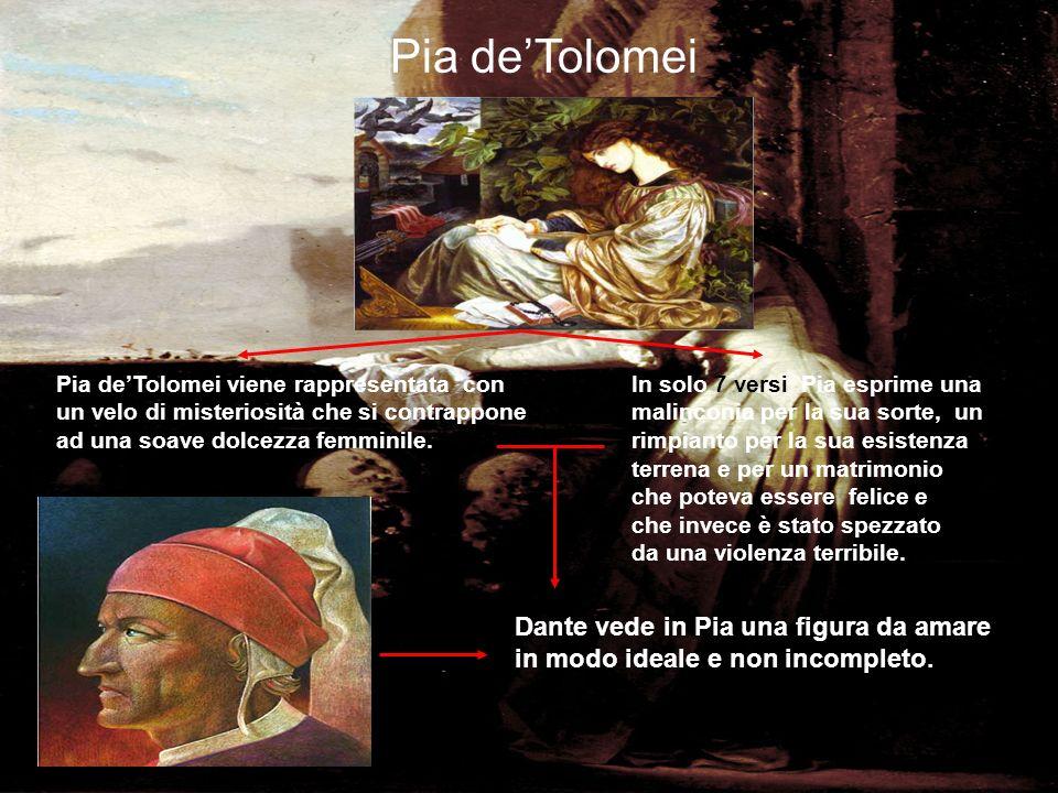 Pia de'Tolomei Dante vede in Pia una figura da amare