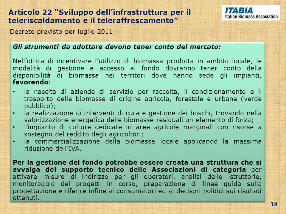 Decreto previsto per luglio 2011