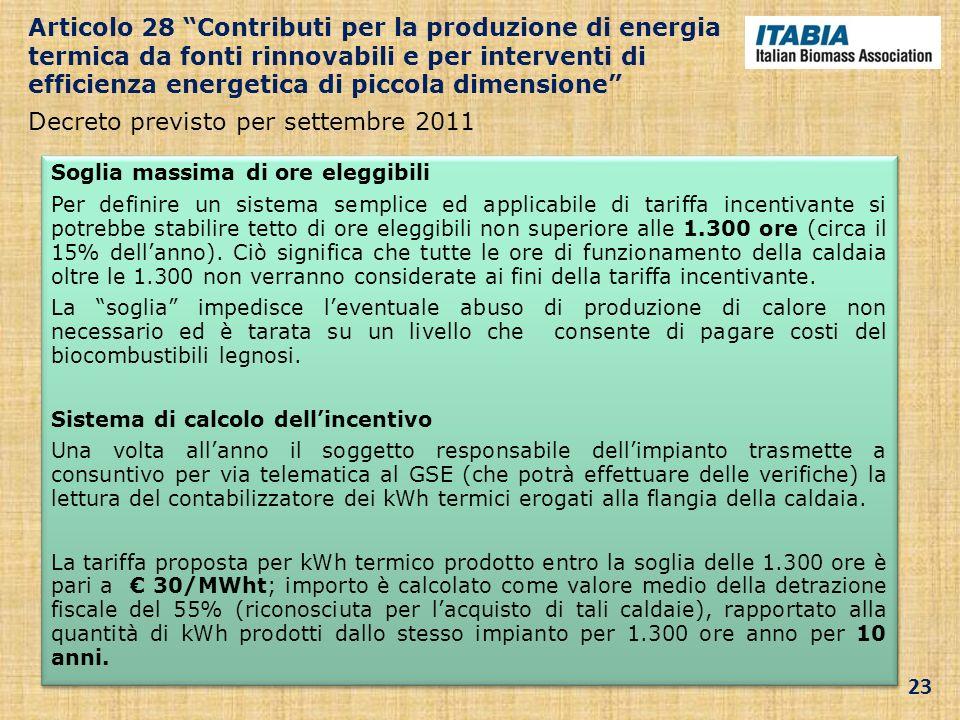Decreto previsto per settembre 2011