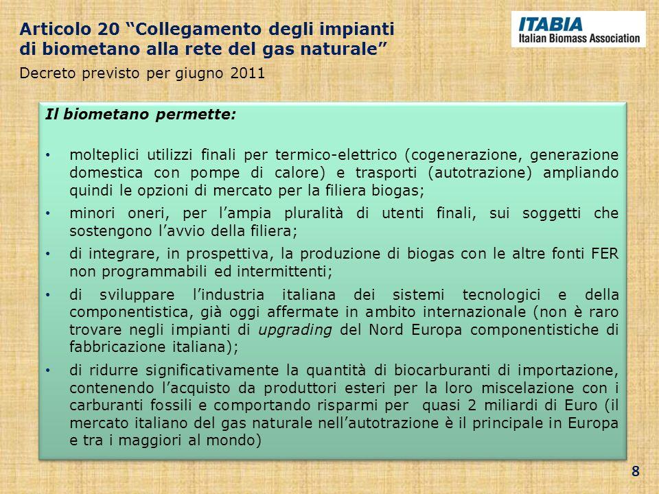 Articolo 20 Collegamento degli impianti