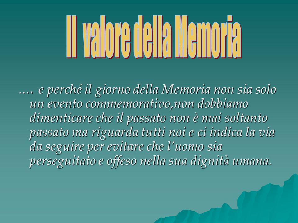 Il valore della Memoria