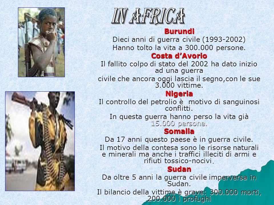 In Africa Burundi Dieci anni di guerra civile (1993-2002)