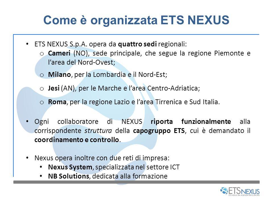 Come è organizzata ETS NEXUS