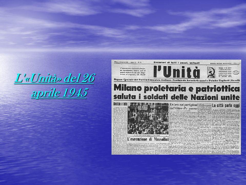 L «Unità» del 26 aprile 1945