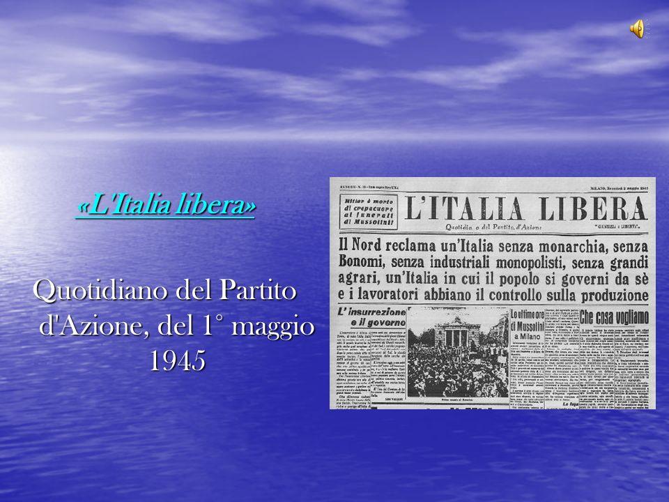 Quotidiano del Partito d Azione, del 1° maggio 1945