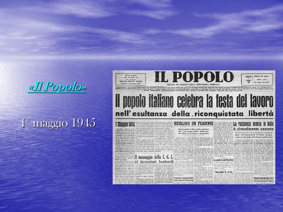 «Il Popolo» 1° maggio 1945