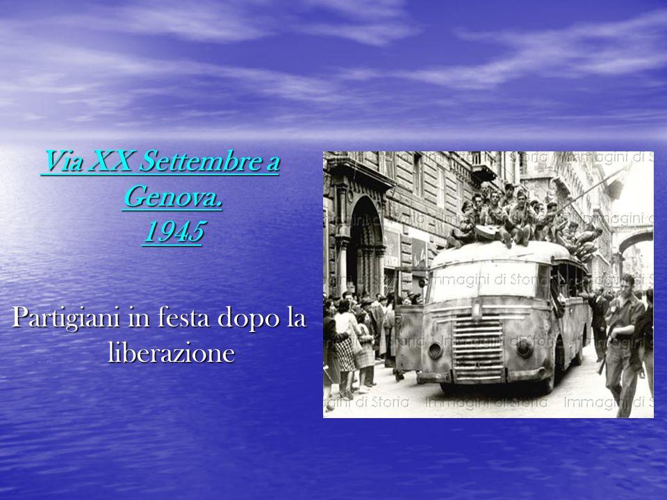 Via XX Settembre a Genova. 1945