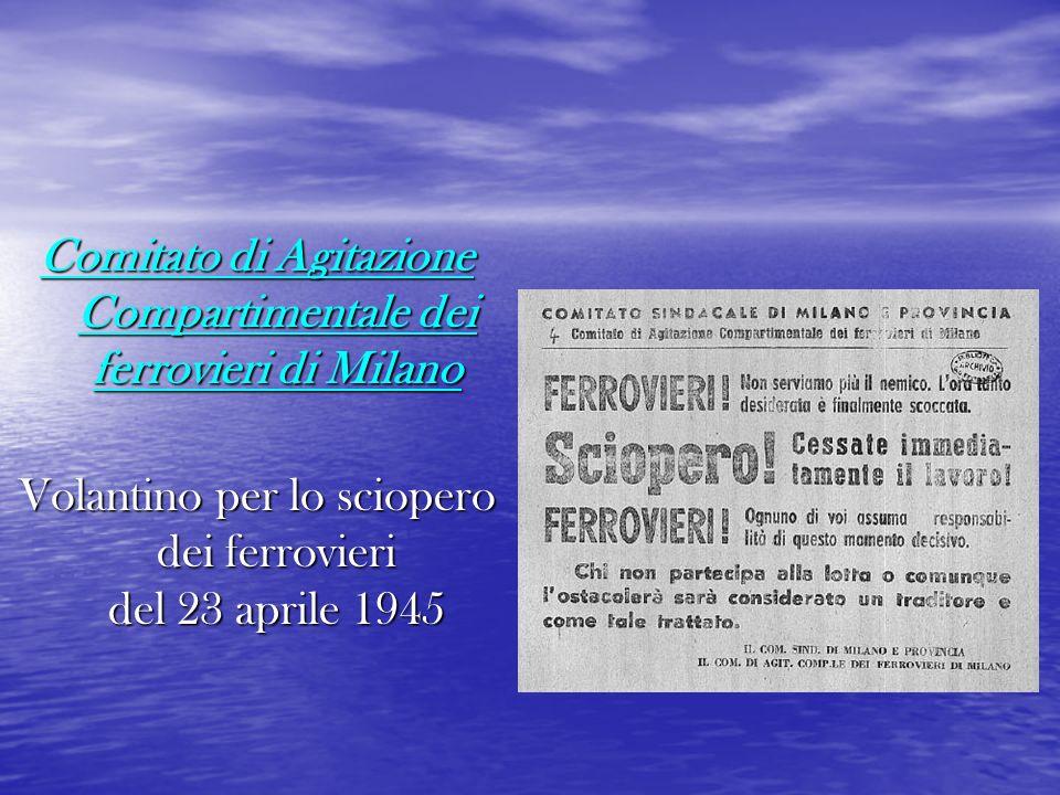 Comitato di Agitazione Compartimentale dei ferrovieri di Milano