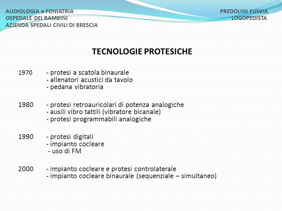 TECNOLOGIE PROTESICHE
