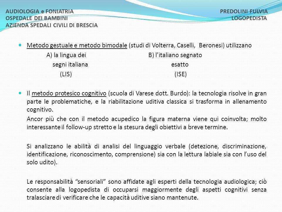 A) la lingua dei B) l'italiano segnato segni italiana esatto