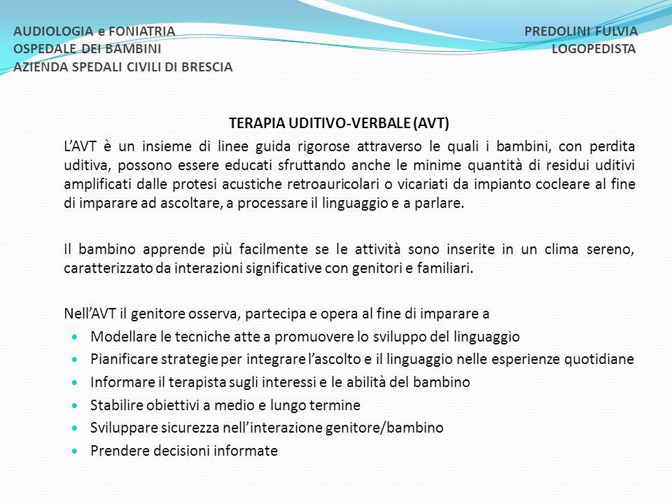 TERAPIA UDITIVO-VERBALE (AVT)