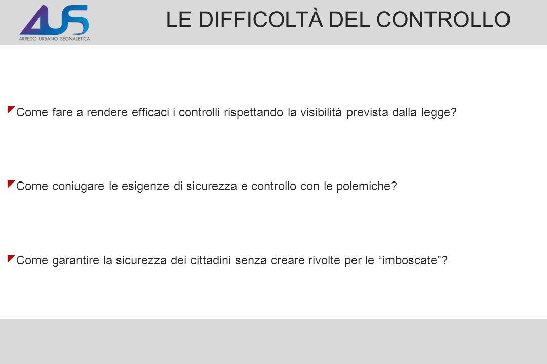 LE DIFFICOLTÀ DEL CONTROLLO
