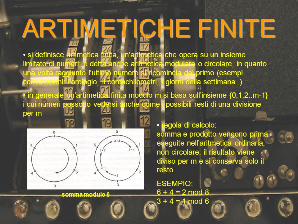 ARTIMETICHE FINITE