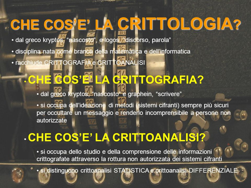 CHE COS'E' LA CRITTOLOGIA