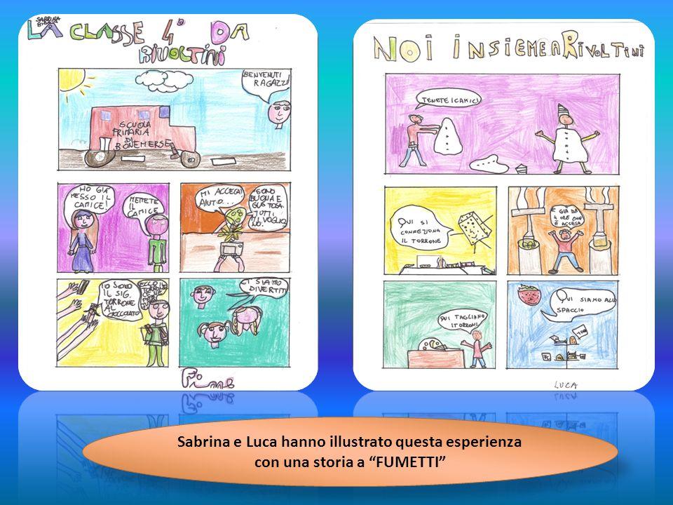 Sabrina e Luca hanno illustrato questa esperienza con una storia a FUMETTI