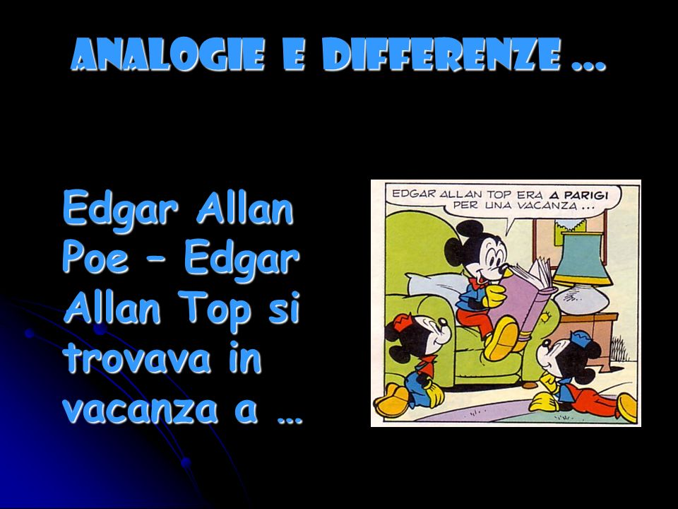 ANALOGIE E DIFFERENZE …