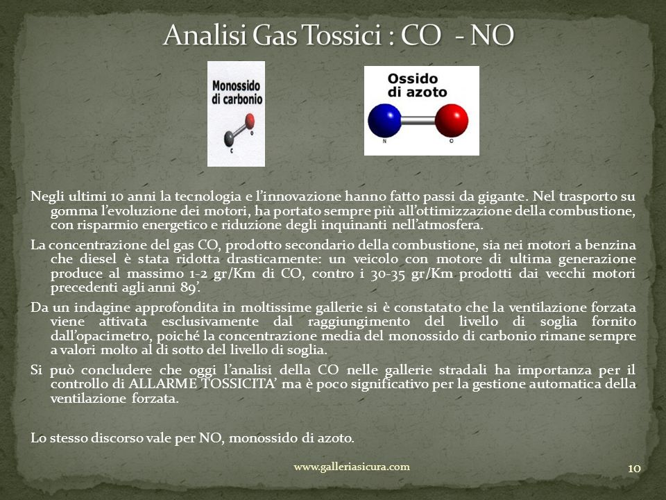 Analisi Gas Tossici : CO - NO
