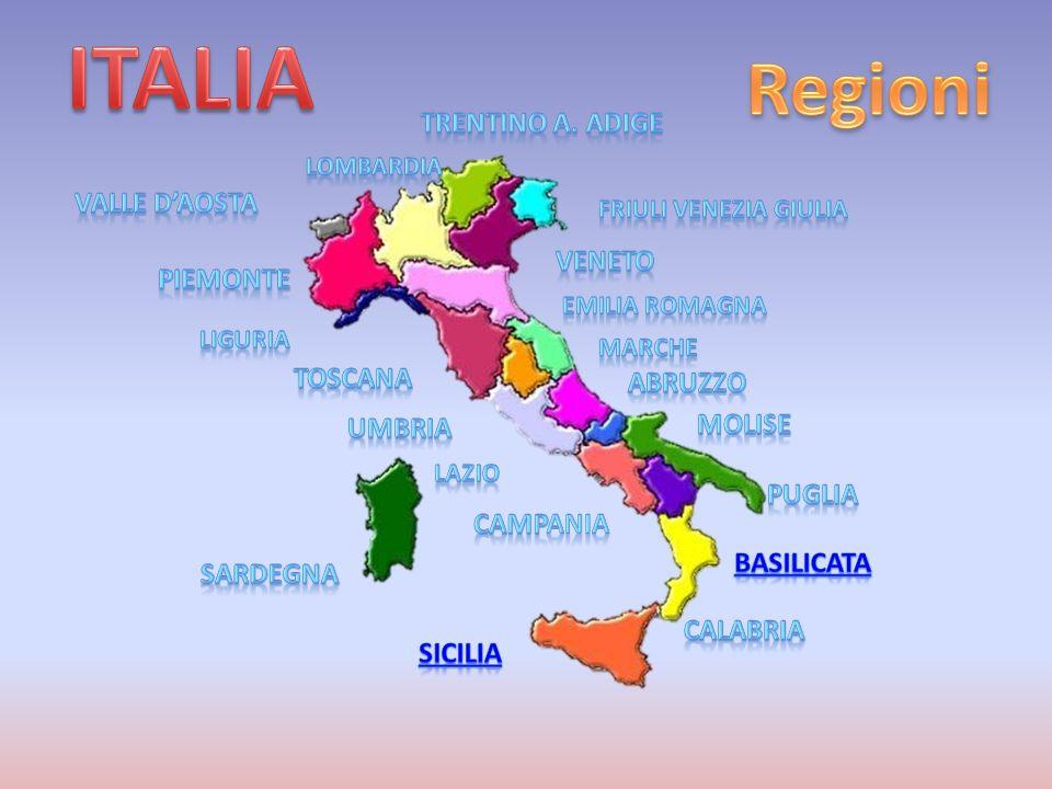 ITALIA Regioni Trentino A. Adige Valle d'Aosta veneto piemonte Toscana