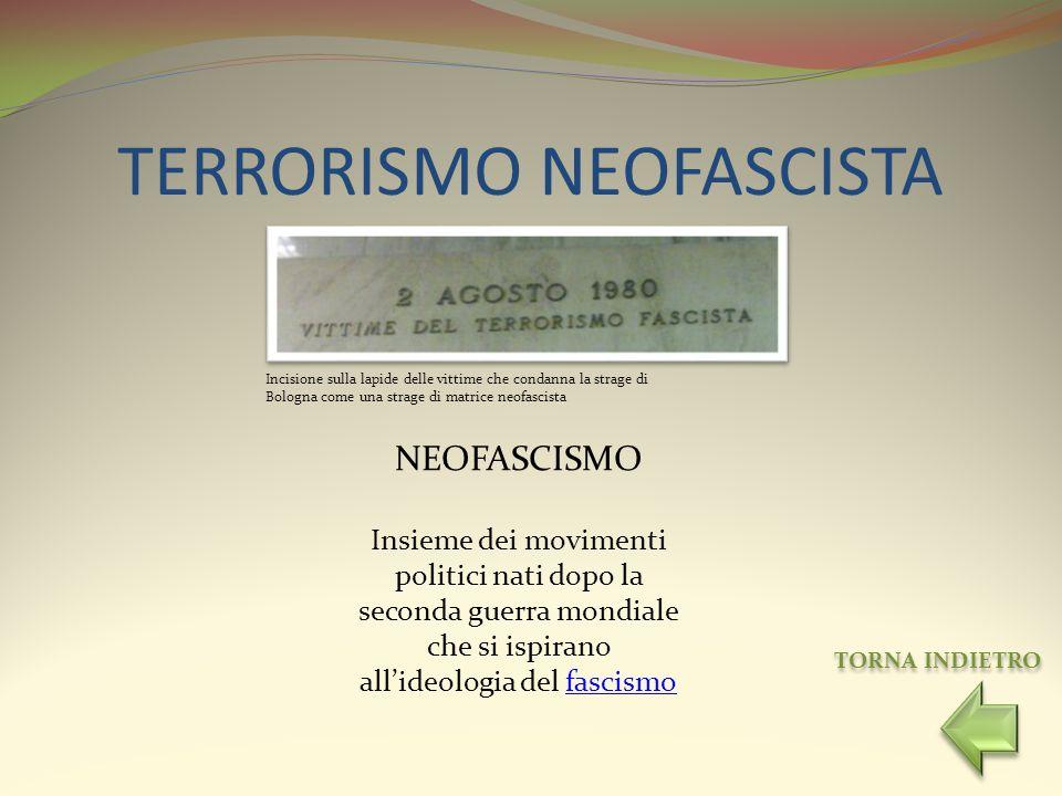 TERRORISMO NEOFASCISTA
