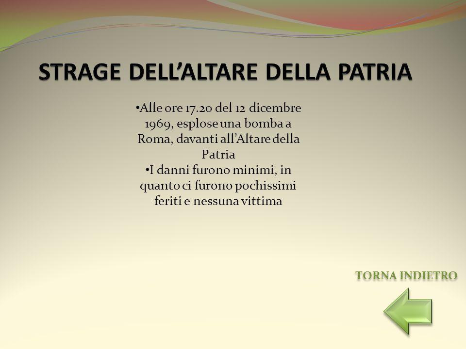 STRAGE DELL'ALTARE DELLA PATRIA