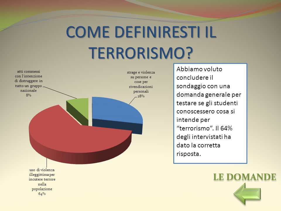 COME DEFINIRESTI IL TERRORISMO