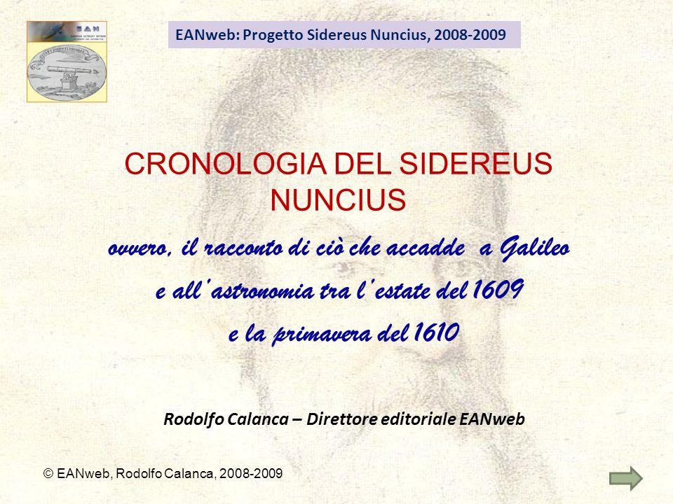 CRONOLOGIA DEL SIDEREUS NUNCIUS