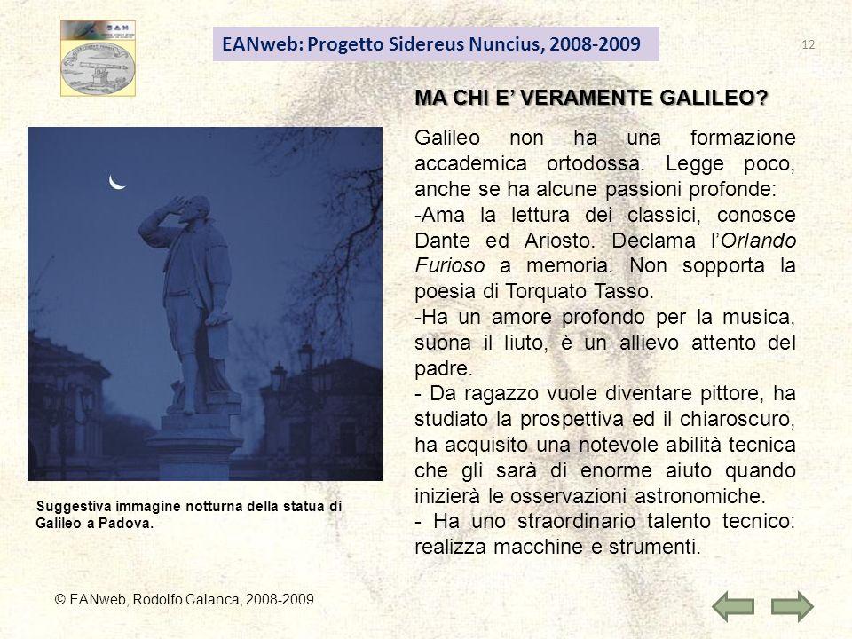 EANweb: Progetto Sidereus Nuncius, 2008-2009