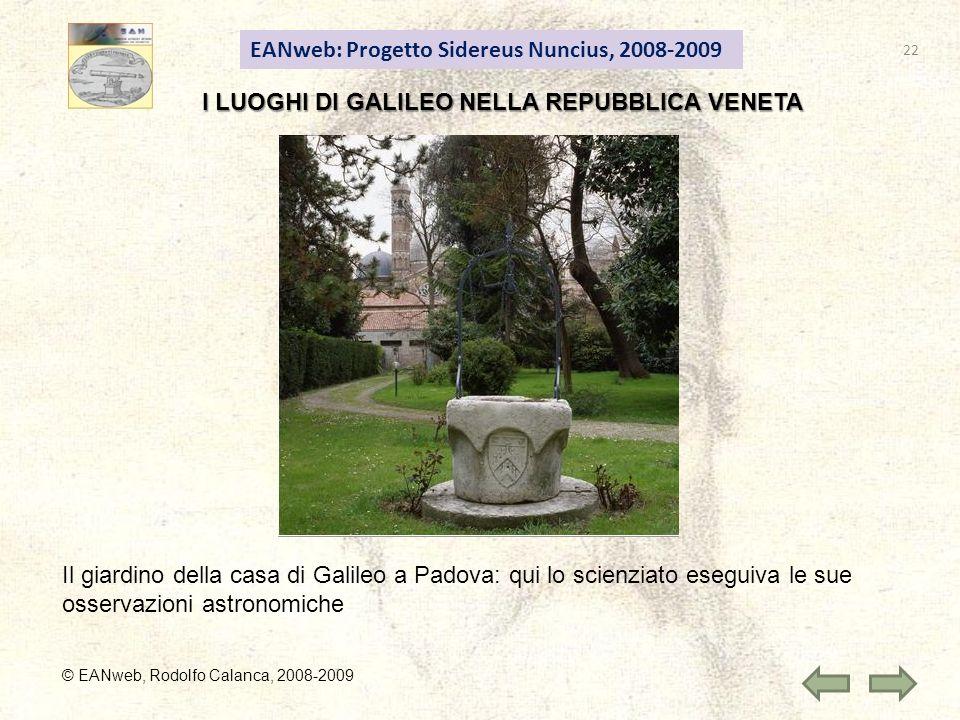 I LUOGHI DI GALILEO NELLA REPUBBLICA VENETA